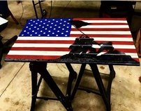 Custom wooden flags in Cherry Point, North Carolina