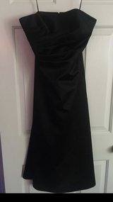 black satin strapless dress in Lake Elsinore, California