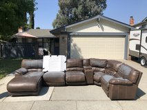 Free couch, peeling but throw a sheet over it and use in the garage or playroom?? Smoke free in Fairfield, California