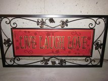 Metal Live Love Laugh Wall Art in Palatine, Illinois