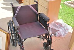 "Wheel Chair, XL, Heavy Duty, 23"" seat, Footrests, Folds, All complete in Leesville, Louisiana"