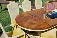 Wood Dining Rm Table w 6 Chairs in Leesville, Louisiana