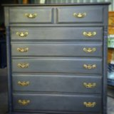 Beautiful Black slightly distressed Chest of Drawers in Baytown, Texas