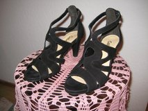 Brand new Black Suede Sandals (size 6) in Ramstein, Germany