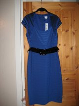 Royal Blue Dress w/Black Patent Leather Belt (Brand new) in Ramstein, Germany