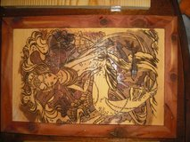 hand burned and stained mermaid picture in Camp Lejeune, North Carolina