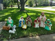Nativity Set blow mold 10 pc in Oswego, Illinois