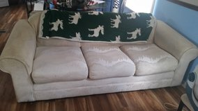 White couch in Fort Polk, Louisiana