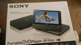 "Sony 8"" portable DVD player in Cherry Point, North Carolina"