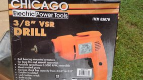 Chicago 3/8 inch VSR drill new in Warner Robins, Georgia