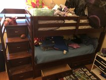Solid Wood Twin Bunk Bed with 6 drawers in Tampa, Florida