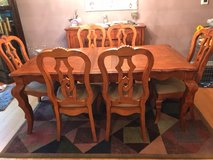 Seven piece dining room set plus buffet in Palatine, Illinois