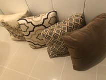 Moroccan Assorted Feather Couch Pillows in Okinawa, Japan