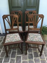 4 antique solid wood chairs from France in Ramstein, Germany