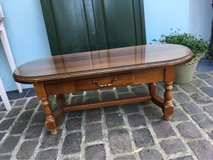 elegant solid wood coffee table from France glass top in Ramstein, Germany
