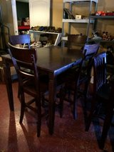 Solid Wood Pub Table With 4 Chairs in Leesville, Louisiana