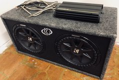 "—REDUCED PRICE!!—Kicker dual 12"" subwoofer & 1200 watt amp in Fort Leonard Wood, Missouri"