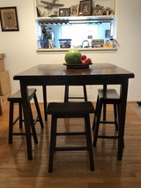 Elevated Dining Room Table W/ 4 Stools in Fairfax, Virginia