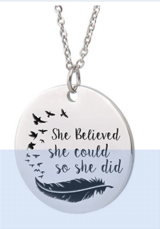 Inspirational Words Necklace in Fort Campbell, Kentucky