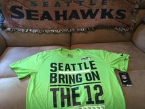 SEATTLE SEAHAWKS - Neon Nike Team Apparel Dri-Fit Shirt (Large) BRING ON THE 12 *** NEW in Tacoma, Washington