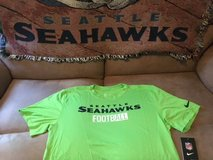 SEATTLE SEAHAWKS - Neon Nike Team Apparel Dri-Fit Shirt (Large) with NFL Logo on Back *** NEW *** in Fort Lewis, Washington