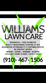 Williams Lawn Care in Wilmington, North Carolina