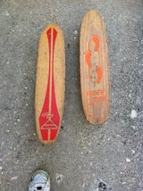 Antique skate boards in Chicago, Illinois