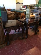 (2) Matching Solid Wood End Tables in Leesville, Louisiana