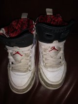 White Jordan shoes in The Woodlands, Texas