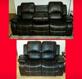 New Brown Leather Reclining Sofa and Loveseat in Conroe, Texas