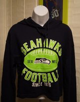 SEATTLE SEAHAWKS -  NFL Team Apparel Women's Hoodie Belly Crop Top (Small & Medium) *** NEW in Fort Lewis, Washington