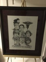 Military Nurse Corps - Signed Framed Drawing of Nurse Corp History in Fort Meade, Maryland