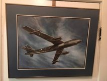 Military Art: Matted/Framed B-47 Stratojet bomber print in Fort Belvoir, Virginia