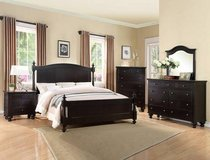 "INVENTORY BLOWOUT!  QUALITY ""SOLID WOOD"" BLACK QUEEN 4PC LARGE BED SET in Camp Pendleton, California"