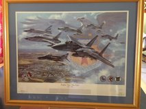 Military Art: Numbered/signed Ronald Wong print: Eagles Over the Eifel 1953-94 Bitburg AB in Fort Meade, Maryland
