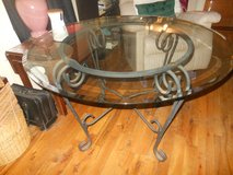 glass and wrought iron table in Beaufort, South Carolina