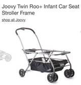 Joovy twin infant stroller frame with extra large basket in Naperville, Illinois