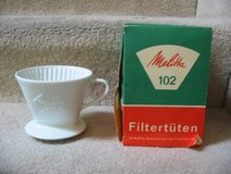 1960's Melitta Coffee Pour-Over Cone White Porcelain One-Hole Filter # in Colorado Springs, Colorado