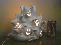 Halloween Ghost Mob Lighted Ceramic Nite-Lite or Table Centerpiece Decor in Bartlett, Illinois