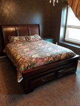 Queen Size Mattress and Bed Frame with drawers in Norfolk, Virginia