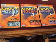 3 SHOUT ABOUT MOVIES DVD PARTY GAMES in St. Charles, Illinois