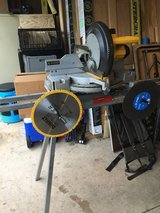 "12"" Dewalt mitre saw with stand and 4 blades in Plainfield, Illinois"