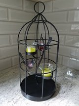 Metal bird cage/birds candle holder in St. Charles, Illinois