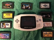 Game Boy Advance & 10 Games Back battery cover is missing in Fort Knox, Kentucky