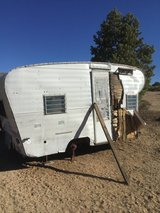 Old trailer 50's in Pioneertown in Yucca Valley, California