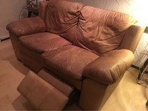 camel color leather couch with duel recline in Stuttgart, GE