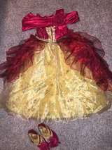 SIZE 4-5 Disney Dress Up Dresses including deluxe gowns (Assortment of 7 plus accessories) in Colorado Springs, Colorado