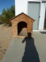 Custom Built Large Wooden Doghouse in Yucca Valley, California