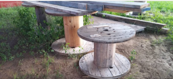 Large Wooden Spools in Dothan, Alabama