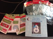 Snowflake Window Clings, Gift Tag Stickers & Snowman Banner in Ramstein, Germany